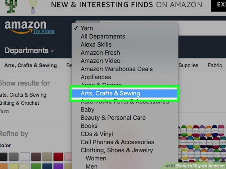 tìm kiếm sản phẩm theo danh mục trên amazon