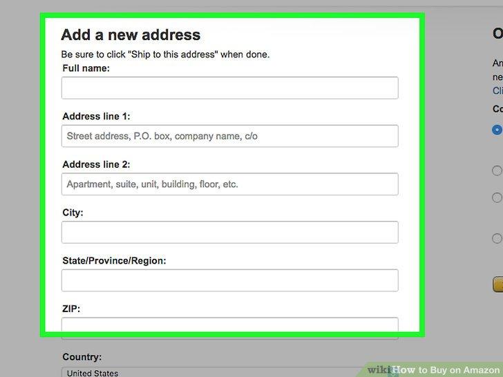 địa chỉ thanh toán trên amazon