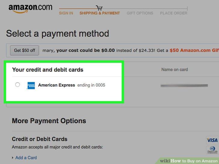 phương thức thanh toán amazon