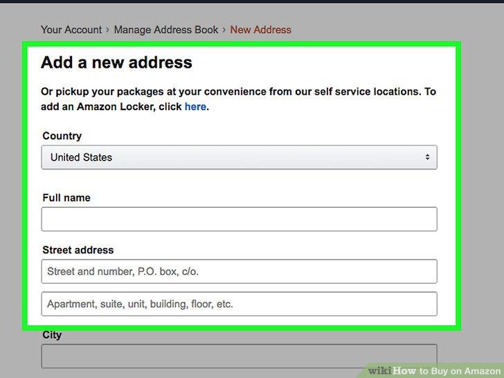 thêm địa chỉ giao hàng trong tài khoản amazon
