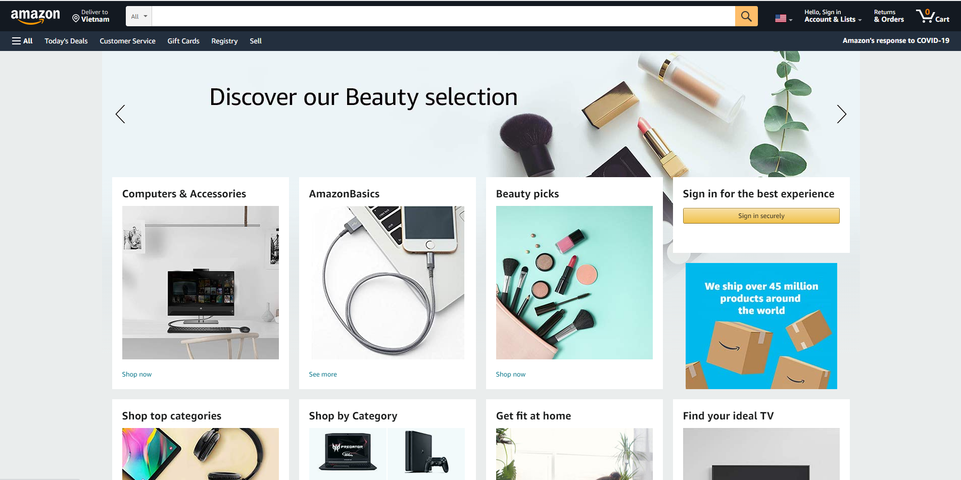 Giới thiệu trang web Amazon
