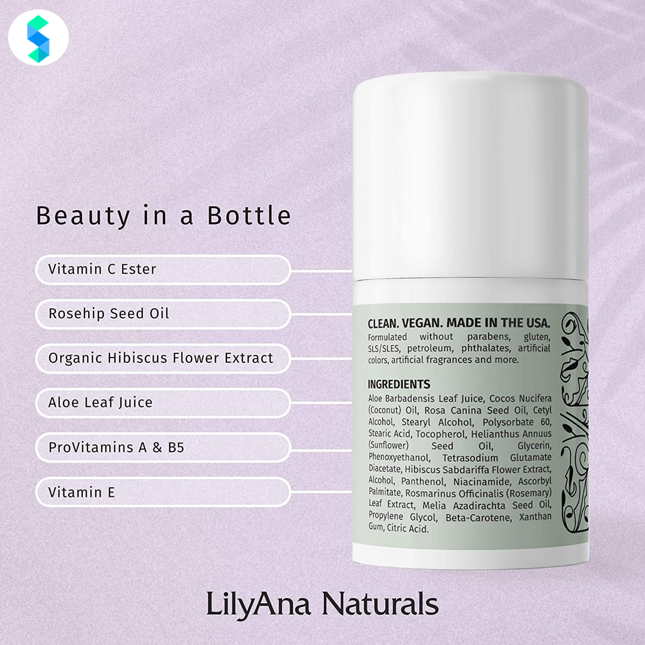 Thành phần kem dưỡng mắt LilyAna Naturals